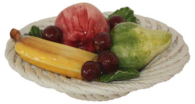Italian Porcelain Fruit Bowl
