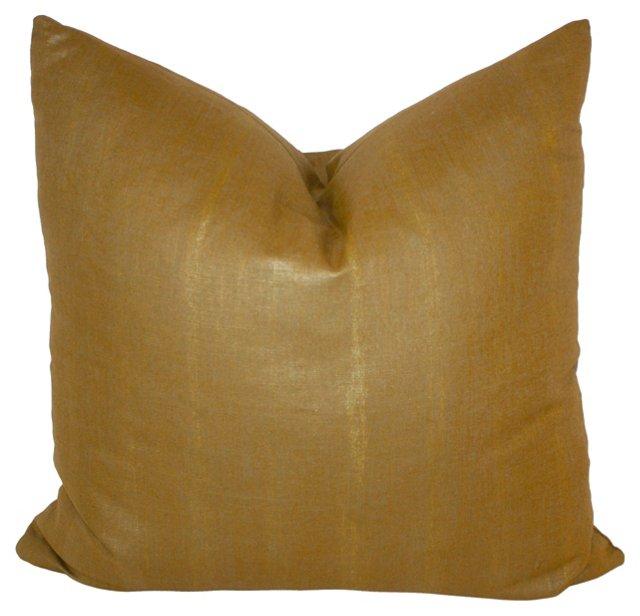 Glazed Gold Linen Pillow