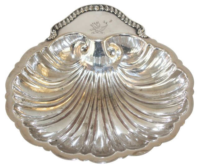Silver Clamshell Dish