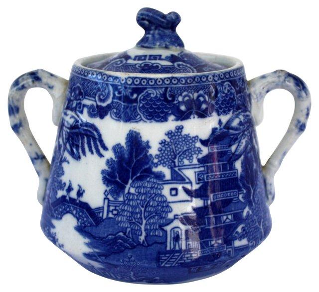 Antique English Sugar Bowl