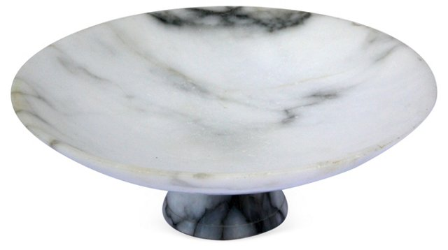 Midcentury Marble Compote