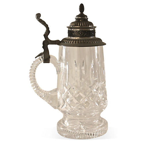Cut Crystal & Pewter Stein