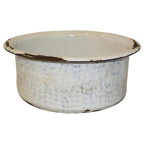 European Graniteware Foot Bath