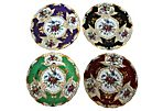 1940s Hand-Painted Wall Plates, S/4