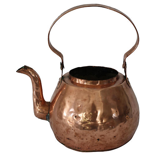 Antique French Copper Kettle