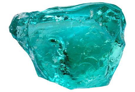 Blue Glass Fragment