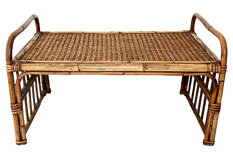 Antique English Bamboo Lap Tray