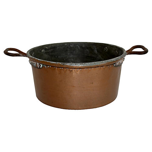 Rustic Copper Pot