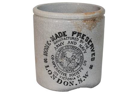 Antique English Preserve Crock