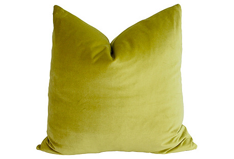 Chartreuse Velvet Pillow