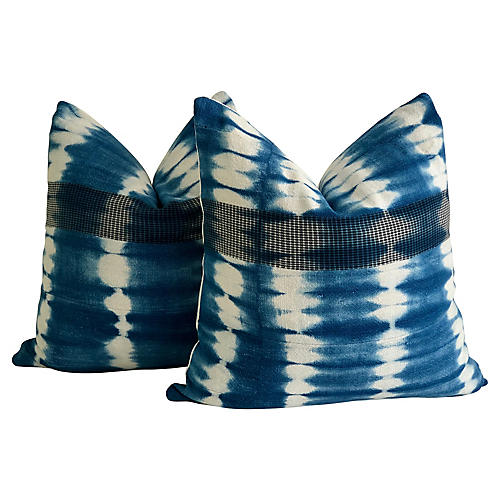 Mali Mud-Cloth Pillows, Pair