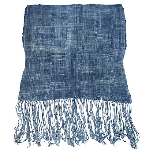 African Indigo Textile Runner/Throw