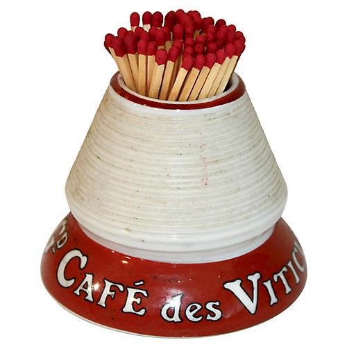 French Porcelain Cafe Match Striker