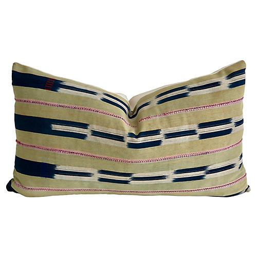African Baule Textile Pillow
