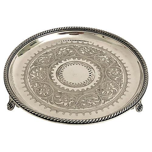 English Silver Salver, 1863