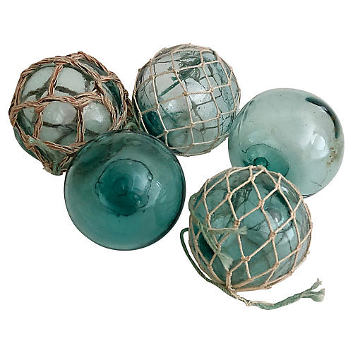 1960s Japanese Glass Floats, S/5