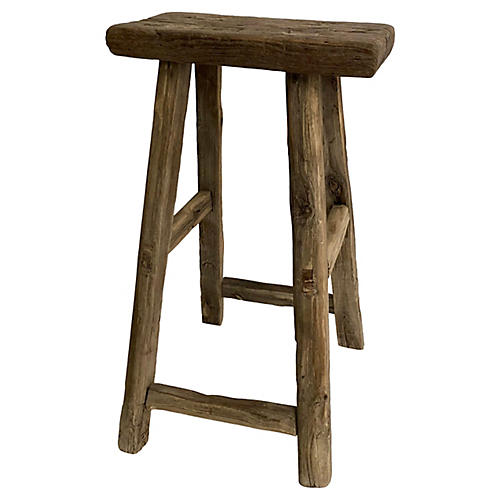 Antique Chinese Elm Stool