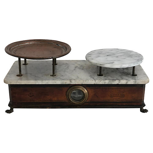 Antique French Marble Scale