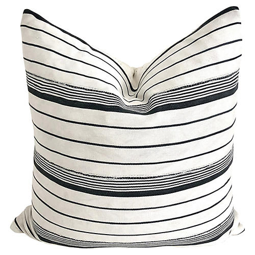 Malian Striped Mud-Cloth Pillow
