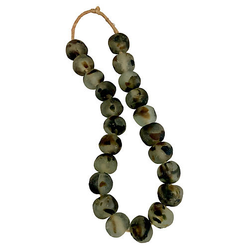 Jumbo African Leopard Glass Beads