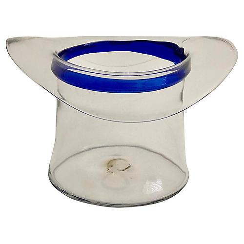 Blenko Glass Top Hat Champagne Cooler