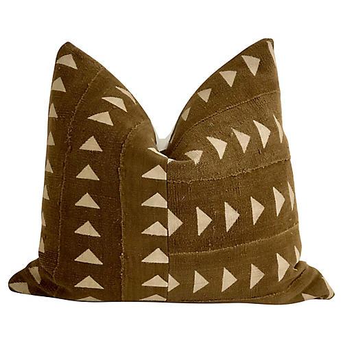 Tobacco Mud-Cloth Textile Pillow