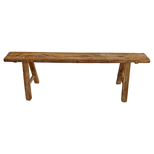 Antique Chinese Primitive Long Bench