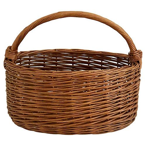Oblong Wicker Basket