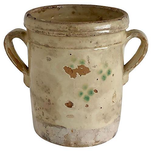 Italian Confit Pot, C. 1900