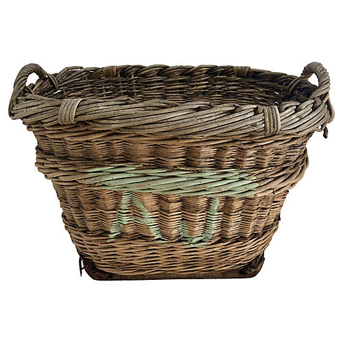 Petite French Champagne Harvest Basket