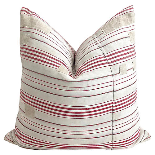 French Ticking Textile Pillow
