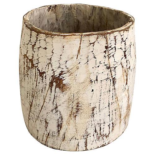 Antique Wood Honey Pot