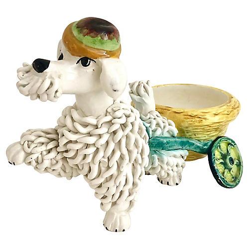 Italian Spaghetti Ceramic Poodle