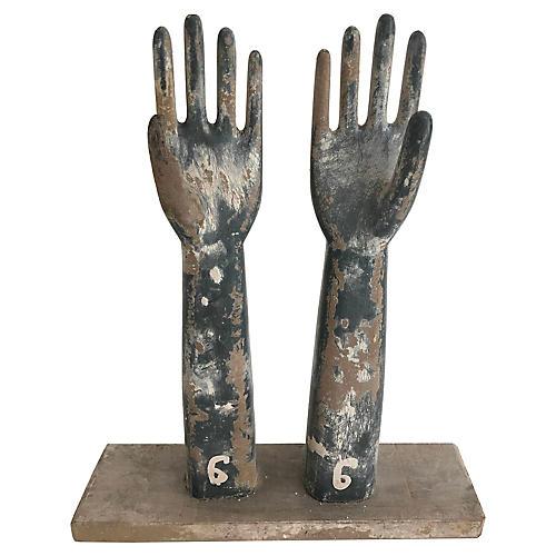 Wooden Glove Mold Sculpture