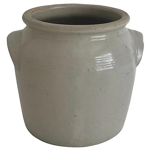 Antique French Burgandy Confit Pot