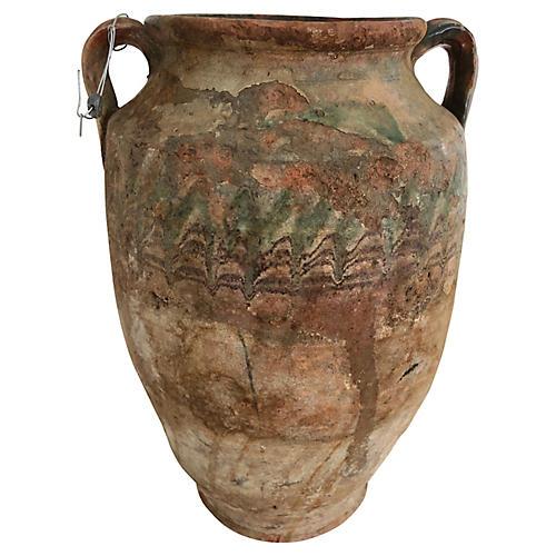 1900s Turkish Pottery Urn
