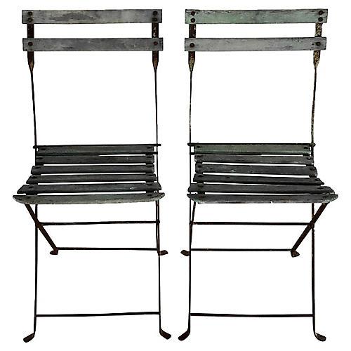 French Garden Bistro Chairs, Pr