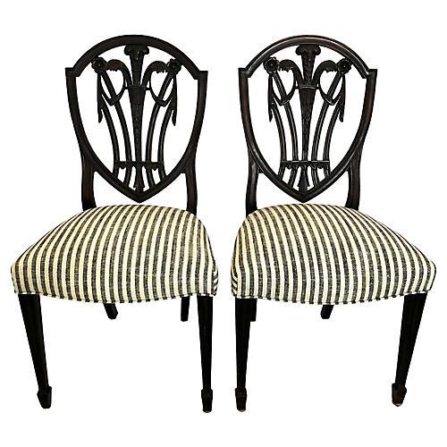 Antique Hepplewhite Chairs, a Pair