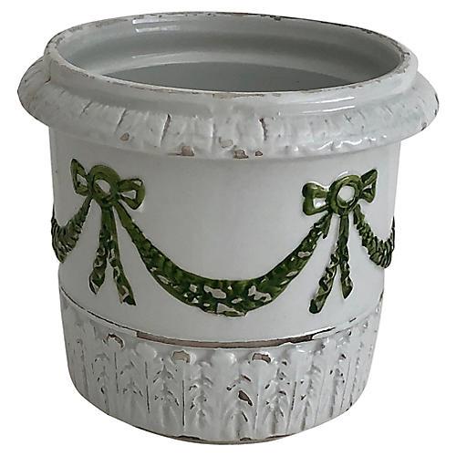 Italian Hand-Painted Cache Pot