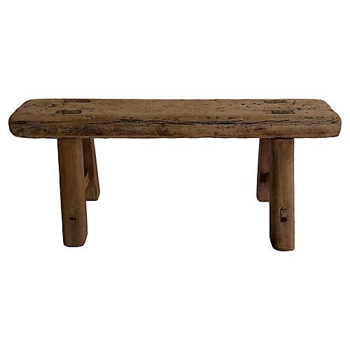 Petite Rustic Elm Bench