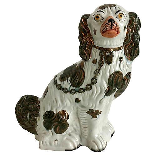 Antique Staffordshire Copper Dog