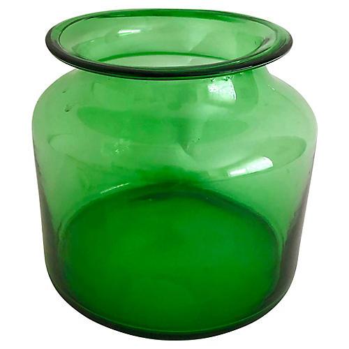 European Green Pickling Jar/ Vase