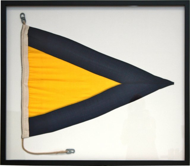 Framed Nautical Flag