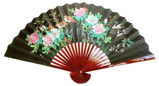 Hand-Painted Chinese Wall Fan