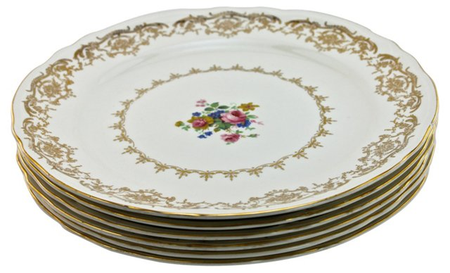 Knowels China Dinner Plates, S/6