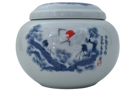 Antique Japanese Dresser Jar