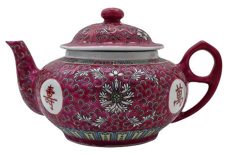 Mun Shou Rose Teapot