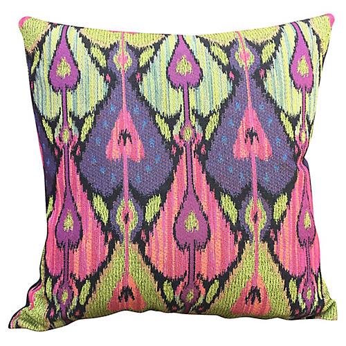 Peacock Ikat Pillow