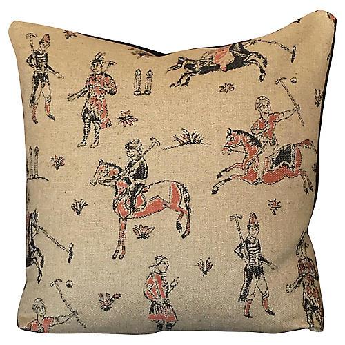 Hemp Polo-Inspired Pillow