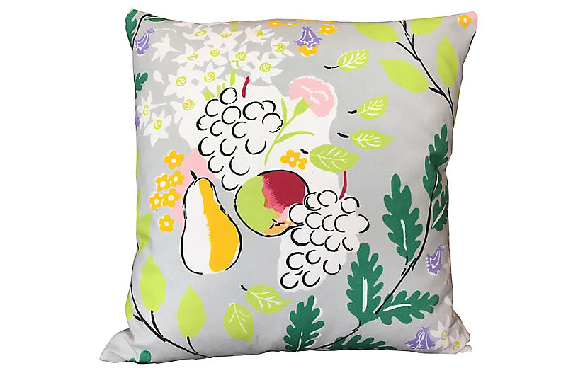 French Cotton Floral Pillow